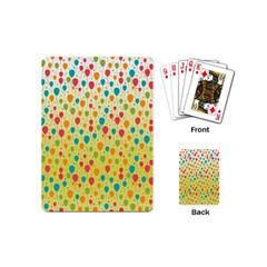 Colorful Balloons Backlground Playing Cards (Mini)