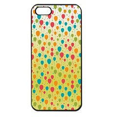 Colorful Balloons Backlground Apple iPhone 5 Seamless Case (Black)