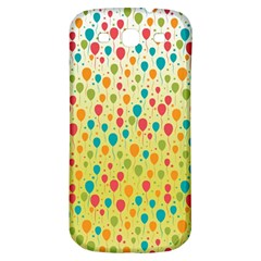 Colorful Balloons Backlground Samsung Galaxy S3 S III Classic Hardshell Back Case