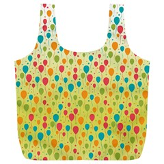 Colorful Balloons Backlground Full Print Recycle Bags (L)