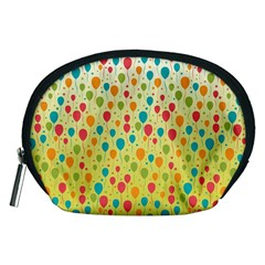 Colorful Balloons Backlground Accessory Pouches (Medium)