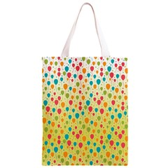 Colorful Balloons Backlground Classic Light Tote Bag