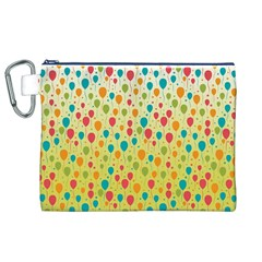 Colorful Balloons Backlground Canvas Cosmetic Bag (XL)