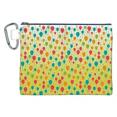 Colorful Balloons Backlground Canvas Cosmetic Bag (XXL)