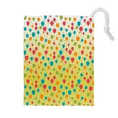Colorful Balloons Backlground Drawstring Pouches (Extra Large)