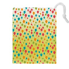 Colorful Balloons Backlground Drawstring Pouches (xxl)