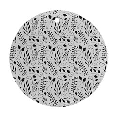 Hand Painted Floral Pattern Ornament (Round)