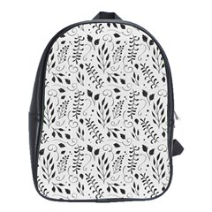 Hand Painted Floral Pattern School Bags(Large)