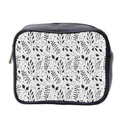 Hand Painted Floral Pattern Mini Toiletries Bag 2 Side