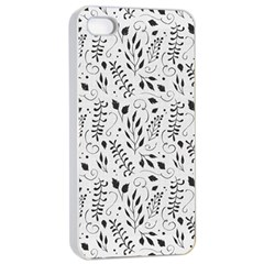 Hand Painted Floral Pattern Apple Iphone 4/4s Seamless Case (white)