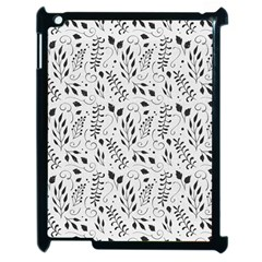 Hand Painted Floral Pattern Apple iPad 2 Case (Black)
