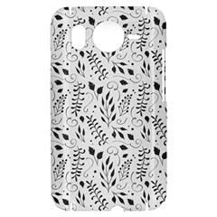 Hand Painted Floral Pattern HTC Desire HD Hardshell Case