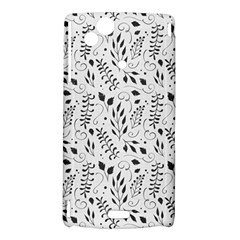 Hand Painted Floral Pattern Sony Xperia Arc