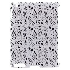 Hand Painted Floral Pattern Apple iPad 2 Hardshell Case (Compatible with Smart Cover)