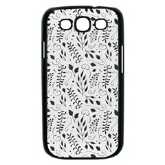 Hand Painted Floral Pattern Samsung Galaxy S III Case (Black)