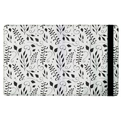 Hand Painted Floral Pattern Apple iPad 3/4 Flip Case