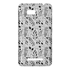 Hand Painted Floral Pattern HTC One SU T528W Hardshell Case