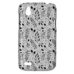 Hand Painted Floral Pattern HTC Desire V (T328W) Hardshell Case