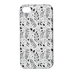 Hand Painted Floral Pattern Apple iPhone 4/4S Hardshell Case with Stand