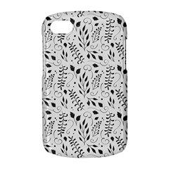 Hand Painted Floral Pattern BlackBerry Q10
