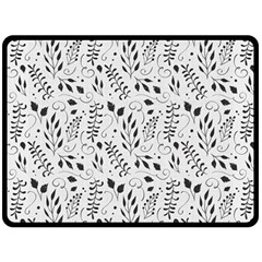 Hand Painted Floral Pattern Double Sided Fleece Blanket (large)