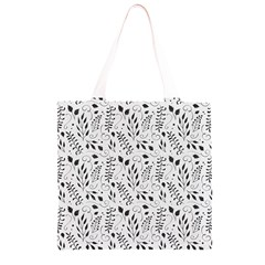 Hand Painted Floral Pattern Grocery Light Tote Bag