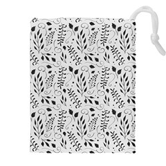 Hand Painted Floral Pattern Drawstring Pouches (XXL)