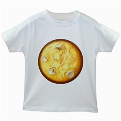 White Chocolate Chip Lemon Cookie Novelty Kids White T Shirts