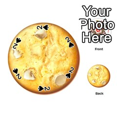 White Chocolate Chip Lemon Cookie Novelty Playing Cards 54 (round)