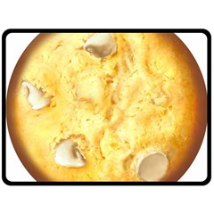 White Chocolate Chip Lemon Cookie Novelty Double Sided Fleece Blanket (large)