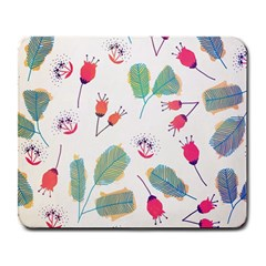 Hand Drawn Flowers Background Large Mousepads