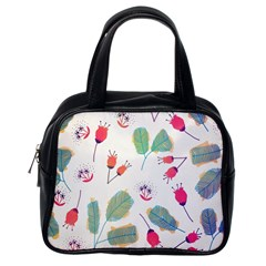 Hand Drawn Flowers Background Classic Handbags (One Side)