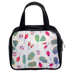 Hand Drawn Flowers Background Classic Handbags (2 Sides)