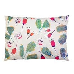 Hand Drawn Flowers Background Pillow Case