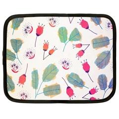 Hand Drawn Flowers Background Netbook Case (XL)