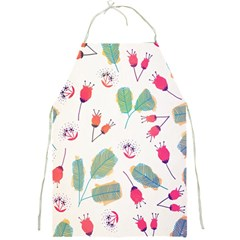 Hand Drawn Flowers Background Full Print Aprons