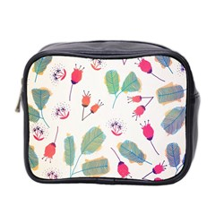 Hand Drawn Flowers Background Mini Toiletries Bag 2-Side