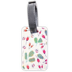 Hand Drawn Flowers Background Luggage Tags (One Side)