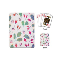 Hand Drawn Flowers Background Playing Cards (Mini)