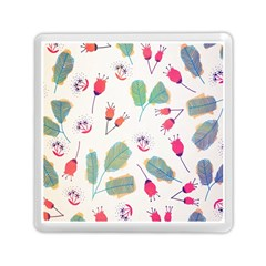 Hand Drawn Flowers Background Memory Card Reader (Square)