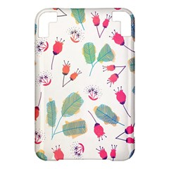 Hand Drawn Flowers Background Kindle 3 Keyboard 3G