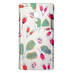 Hand Drawn Flowers Background Sony Xperia ion