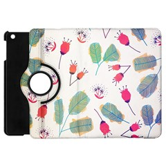 Hand Drawn Flowers Background Apple iPad Mini Flip 360 Case