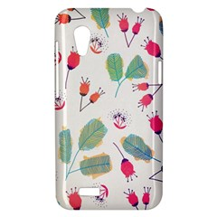 Hand Drawn Flowers Background HTC Desire VT (T328T) Hardshell Case