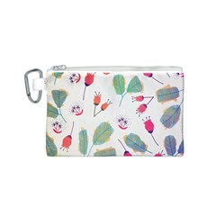 Hand Drawn Flowers Background Canvas Cosmetic Bag (S)