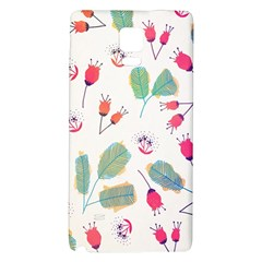 Hand Drawn Flowers Background Galaxy Note 4 Back Case