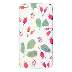 Hand Drawn Flowers Background Samsung Galaxy Mega I9200 Hardshell Back Case