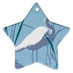 Egret Star Ornament (Two Sides)  Back