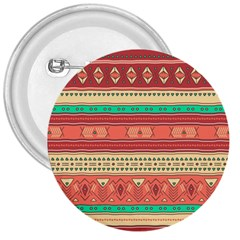 Hand Drawn Ethnic Shapes Pattern 3  Buttons