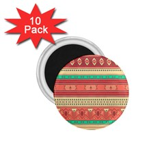 Hand Drawn Ethnic Shapes Pattern 1 75  Magnets (10 Pack)